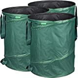 GardenMate 3X Sacs de Jardin Pop-up 160L en Polyester Oxford indéchirable