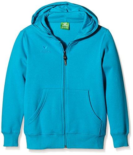 erima Kinder Sweatjacke Hooded Jacket, Petrol, 140, 207336