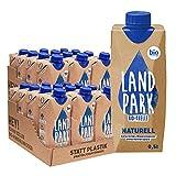 Doppelpack Landpark Bio-Mineralwasser Naturell, 24x0,5L Tetra Pak   natürliches Mineralwasser aus der Bio-Quelle   natriumarm & ohne Kohlensäure   praktisch für unterwegs   stilles Wasser   pfandfrei