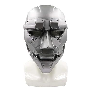 Dr Doom Victor von Doom Super Villain Mechanical Mask Halloween Cosplay Costume Accessories Silver