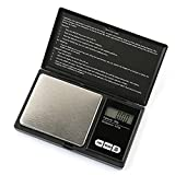 PONECA Digital Pocket Scale Jewelry Gold Diamond Weighting Scale Gram Weight Electric Scales 200g by 0.01g Food Scale Kitchen Scale Min LCD Light