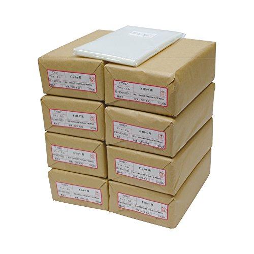 アートエム 【国産】テープ付 【ぴったりサイズ】ポストカード用 透明OPP写真袋【8000枚】30ミクロン厚(標準)110x157+36mm