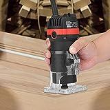 Vogvigo Fresadora de Madera 30000 RPM Rebajadora Eléctrica Máquina de carpintería para el recorte eléctrico Grabado electromecánico Fresadora de madera Máquina de corte de cobre