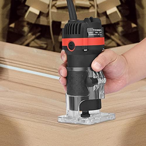 Vogvigo Rifilatore Fresatrice Verticale 6.35mm Fresatrice Verticale Legno Compatto 30000r/min per...