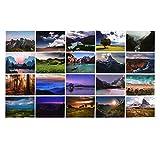 ewtshop® Landschaftspostkarten, 100 Stück, Postkartenset mit 100 verschiedenen tollen Motiven, Landschaften,Travel