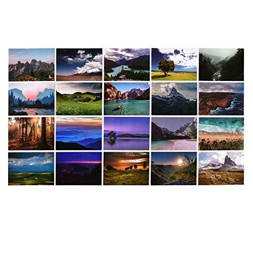 ewtshop® Postales de paisaje, 100 unidades, juego de postales con 100 diferentes motivos, paisajes, viajes