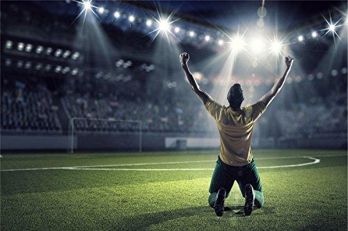Fussball Stadion Tor Jubel Spieler XXL Wandbild Foto Poster P0415 Größe 120 cm x 80 cm, Größe 120 cm x 80 cm