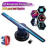 Proyector de holograma 3D Pantalla de publicidad Ventilador Foto Video Máquina de aire holográfica...