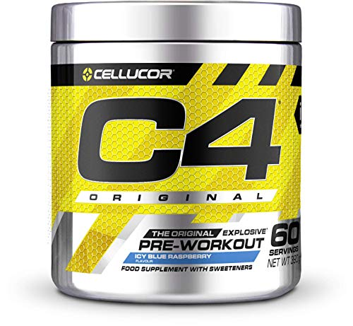 C4 Original Pre-Workout Supplement, Ice Blue Raspberry