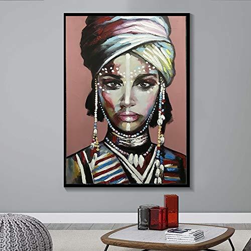 wopiaol Kein Rahmen Dress up Afrikanerin Cuadros Leinwand Malerei Plakate und Drucke Skandinavische Wandkunst Bild für Wohnzimmer Home Decor