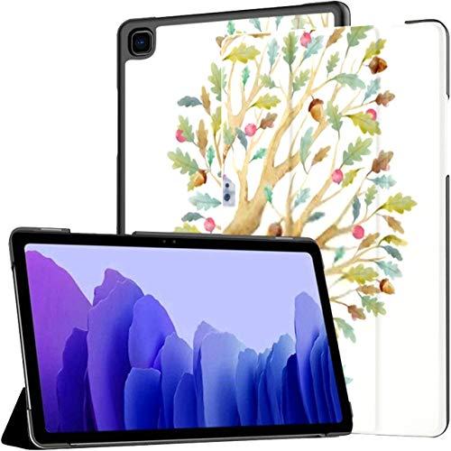 Funda para Samsung Galaxy Tab A7 Tableta de 10,4 Pulgadas 2020 (sm-t500 / t505 / t507), Ilustración de árbol Infantil en Acuarela Cubierta de Soporte de múltiples ángulos genealógicos Familiares con