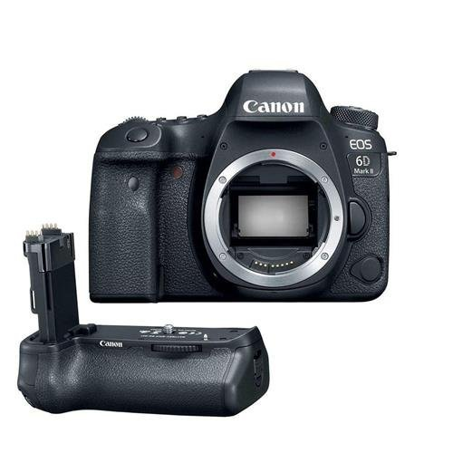 Canon EOS 6D Mark II Wi-Fi Digital SLR Camera Body with BG-E21 Battery Grip (Renewed)
