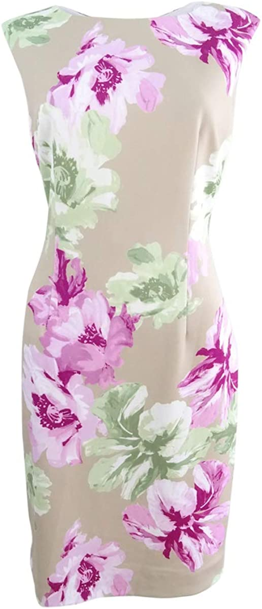 TAHARI ASL Women's Floral-Print Scuba Sheath Dress