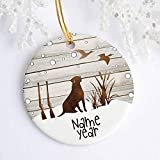 Qiu1936 Duck Hunting Dog Christmas Ornaments,2020 Ornament,Christmas Tree Ornament, Bird Dog Personalized with Name and Year for Kids Family New Couple Xmas Gifts