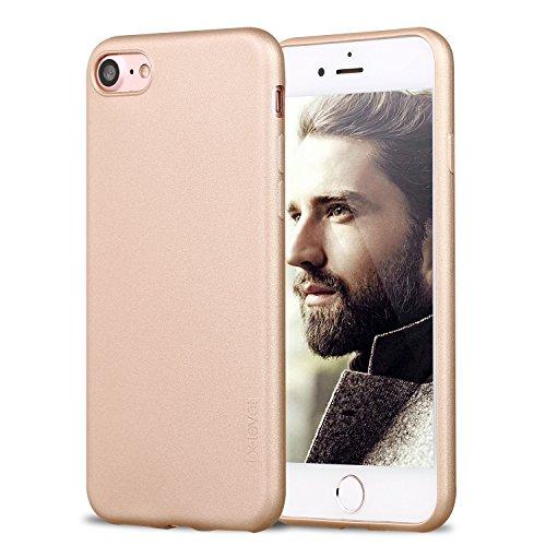 X-level iPhone 8 Hülle, iPhone 7 Hülle, [Guardian Serie] Soft Flex TPU Case Ultradünn Handyhülle Silikon Bumper Cover Schutz Tasche Schale Schutzhülle für iPhone 7/ iPhone 8 4,7 Zoll - Gold