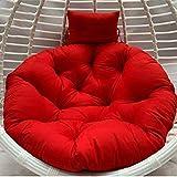 FMOGQ Cojín para silla de columpio, grueso nido de un solo pájaro, cesta colgante hamaca cojines de silla extraíbles lavables, d 100 x 100 cm. Color: B, tamaño: 100 x 100 cm
