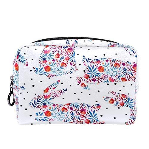 Makeup Organizer Bags, Travel Cosmetic Bag - Hanging Travel Toiletry And Cosmetic Organizer Withsigle Pockets.# rabbit