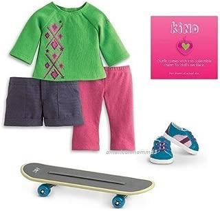 American Girl - Skateboard Set + Charm for Dolls - MY AG 2013