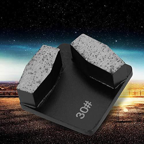 Disco abrasivo de diamante para hormigón, Almohadilla de pulido de piedra de esmerilado de hormigón para amoladora de piso, Grano 30 trapezoidal, 35 RPM