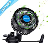 "EXCOUP Car Fan 12V Powerful Car Cooling Air Fan 4.5"" Quiet Vehicle Fan"