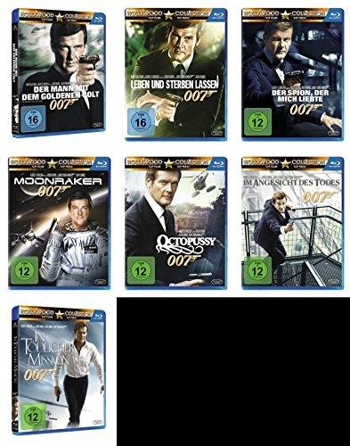 James Bond 007 ROGER MOORE komplette Edition 7 BLU-RAY Collection -- > DER MANN MIT DEM GOLDENEN COLT * LEBEN UND STERBEN LASSE