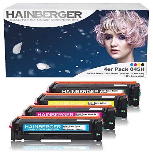 4er Pack Hainberger Toner Kompatibel zu Canon 045 045H CRG-045H CRG-045 045HBK für Canon i-sensys MF635cx MF633cdw MF634cdw MF631cn MF632Cdw MF636Cdwt MF631 MF635 MF634 LBP613cdw LBP612cdw LBP611cn