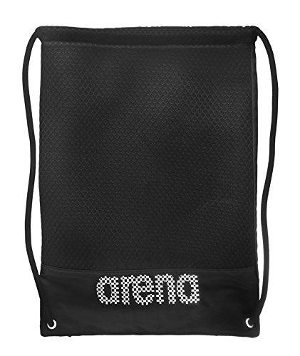 arena 2-in-1 Turnbeutel Rucksack Schwimmbeutel Therese für Trainingsutensilien (36x46cm), Black-White (515), One Size