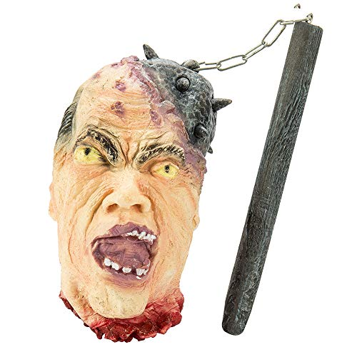Hanging Severed Head Halloween Prop