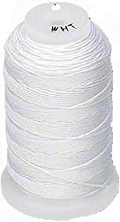 Simply Silk Beading Thread Size D White 0.012 Inch 0.34mm Spool 260 Yards for Stringing Weaving Knotting