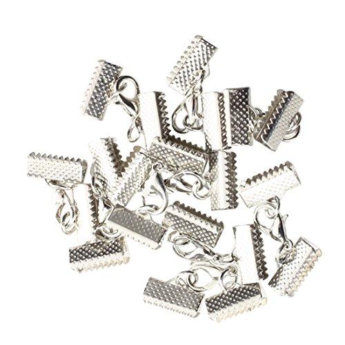 SODIAL(R) 10X Metall Verschluss Kettenverschluss Silber Karabiner