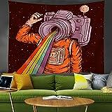 Tapiz bohemio, brujería Horror huesos Yoga tapiz para colgar en la pared, dormitorio para adultos, sala de estar, kit de tapiz para el hogar-DF_150X200cm