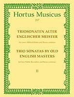 Musica Inglesa - Trio Sonatas (2) de Antiguos Maestros Vol.2 para 2 Flautas Dulces Alto y BC