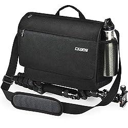 powerful CADEN DSLR camera shoulder bag with tripod holder and removable camera bag, …