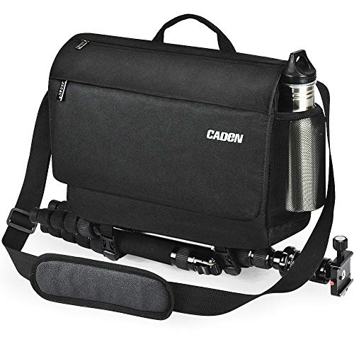 CADEN DSLR Camera Shoulder Messenger Bag with Tripod Holder and Detachable Camera Insert Bag, Camera Case Bag for Nikon Canon Sony Mirrorless Cameras etc
