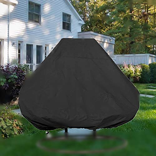 mychoose Patio Hanging Chair Cover Double 210D Swinging Egg Chair Cover Polyester Taffeta Waterproof Garden Rattan Wicker Swing Chair Outdoor Furniture Cover Black(230x200 cm)
