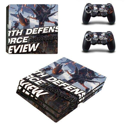PS4 Pro Console Skin Set Vinyl Decals Stickers for Playstation 4 Pro Console Dualshock 2 Controllers Space war (PS4 Pro Only) by Calantha & Partner