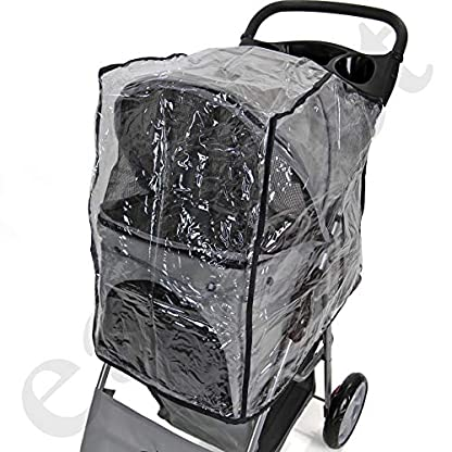Easipet Rain Cover Pet Stroller 5