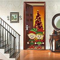 3Dウォールステッカー クリスマスの装飾の壁紙のポスタークリスマスの家の装飾の壁画のドアのステッカー
