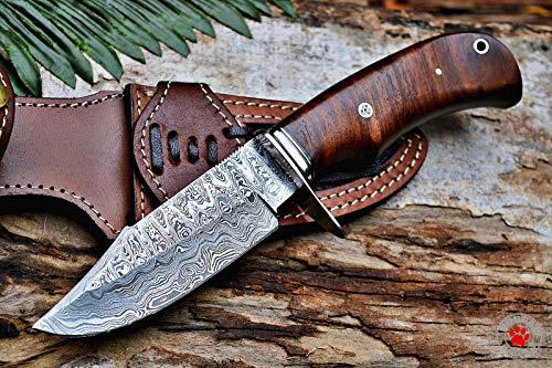 Custom Handmade Hunting Knife BEAR HUNTER Damascus Steel Overall 10''