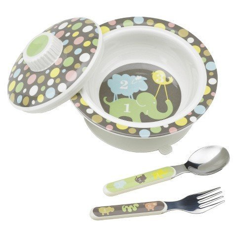 Best Prices! SugarBooger Covered Suction Bowl and Utensil Set - Numbers