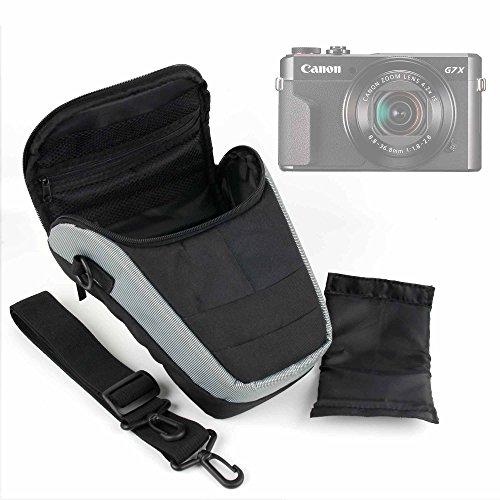 DURAGADGET Bolsa protectora para Canon PowerShot G7 X Mark II, Canon Italia EOS M50 – con correa ajustable + asa