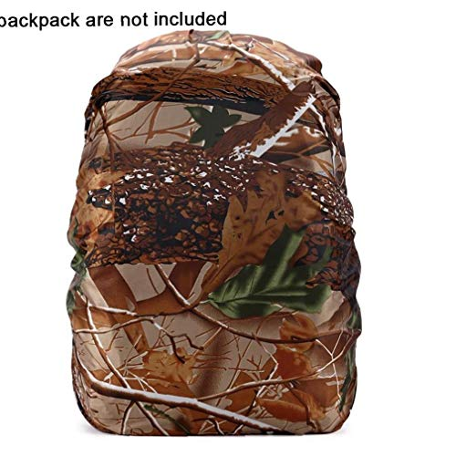 1PC Waterproof Backpack Rain Cover Lightweight Bag Rain Cover Elastic Adjustable Rucksack Raincover For Hiking Camping(Woods Camouflage)