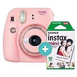 Instax Mini 9 Clear Pink incl. Film für 10 Aufnahmen