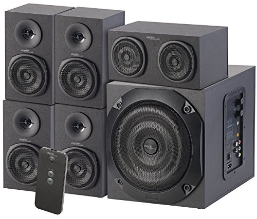 auvisio Soundsystem: Analoges 5.1-Lautsprecher-System für PC, TV, DVD, Beamer & Co, 120 W (Gaming Lautsprecher Set)