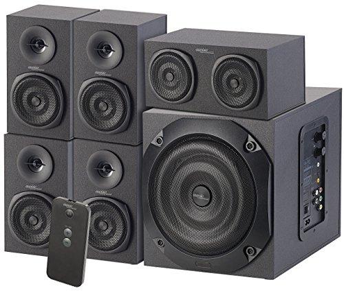 auvisio 5 1 Soundsystem: Analoges 5.1-Lautsprecher-System für PC, TV, DVD, Beamer & Co, 120 W (5 1 Systeme)