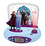 Lexibook RP510FZ 50 Disney Frozen 2 Elsa & Anna, Projector Alarm Clock, Night