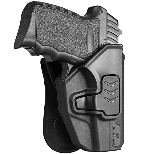 OWB Holster Compatible with SCCY 9mm CPX1 CPX2, Level II Retention Outside Waistband Open Carry for SCCY CPX-1 CPX-2, Gun Holster for Men/Women | Soft Silicon Paddle 360 Degrees Adjustable