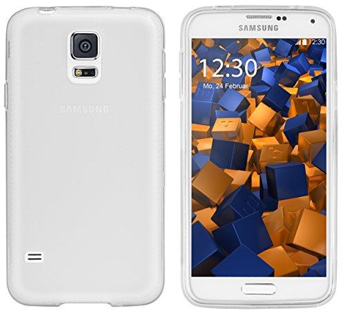 mumbi Hülle kompatibel mit Samsung Galaxy S5 / S5 Neo Handy Case Handyhülle, transparent weiss
