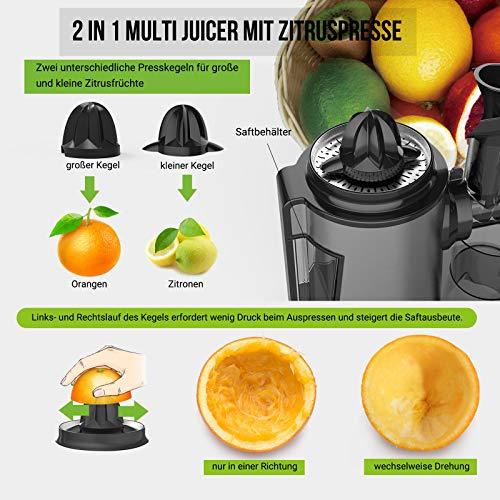 Slow Juicer elektrischer Entsafter für Gemüse und Obst kaufen  Bild 1*