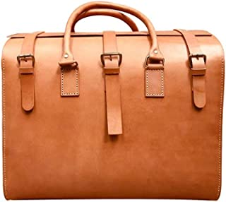 ETH Brown Leather Suitcase Large Capacity First Layer Of Leather Men's European And American Retro Fashion Gentleman Gift Handmade 50 * 33 * 42cm
